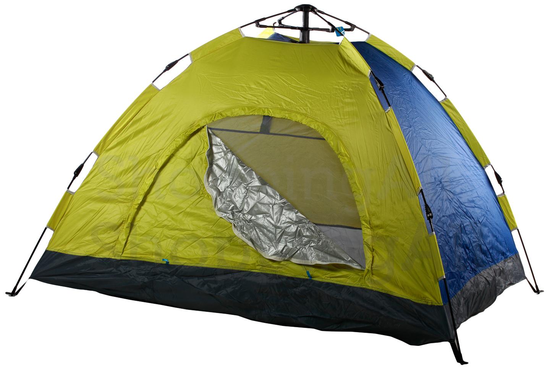 ef84554ebb9c Gyorsan felállítható sátor, sárga-kék (2-3 személyes)