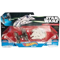 Hot Wheels Star Wars TIE fighter és 1000 éves sólyom űrhajó szett, 2 db-os (Mattel CGW95 CGW90)